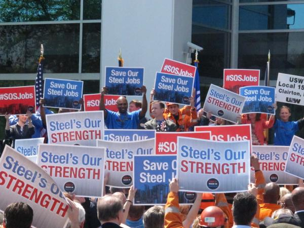 Steelworkers Rally Against Alleged Illegal 'Dumping' Of South Korean Steel Pipes