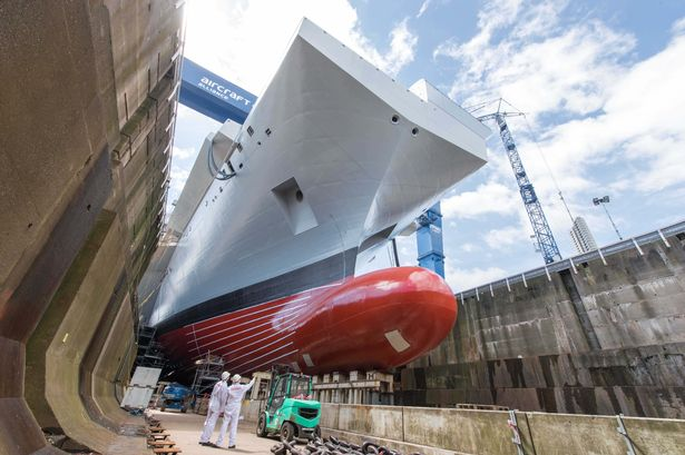Royal Navy's biggest ever ship has been officially named by the Queen
