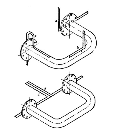 180 degree stainless steel pipe fitting mapping method