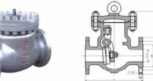 Installation position of check valve